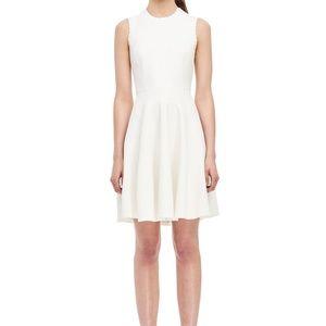 Rebecca Taylor Stretch Textured Dress in Milk